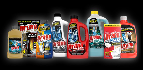 drano solution finder product collage